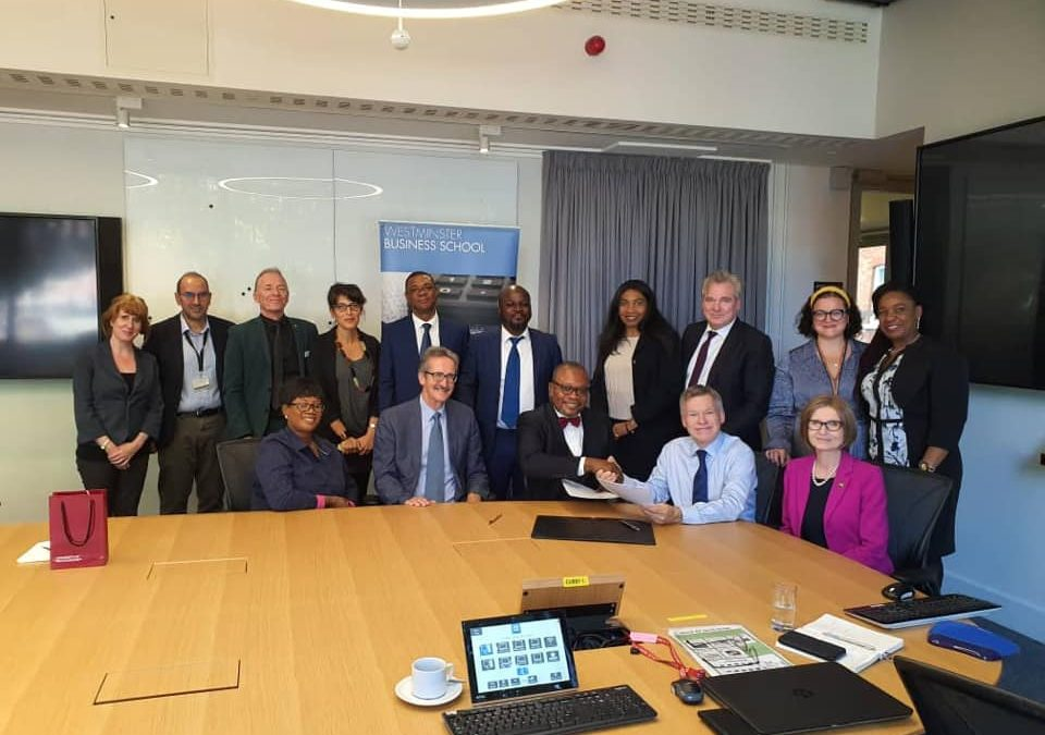The President Of Accra Business School Signs An Mou To Host The Summer School For African Leaders In June 2020 In London